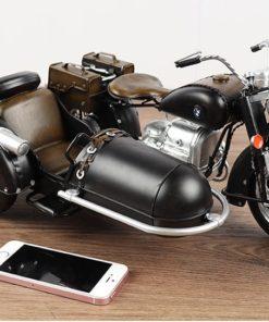 Mô hình sidecar R71 bằng sắt đồ trang trí vintage