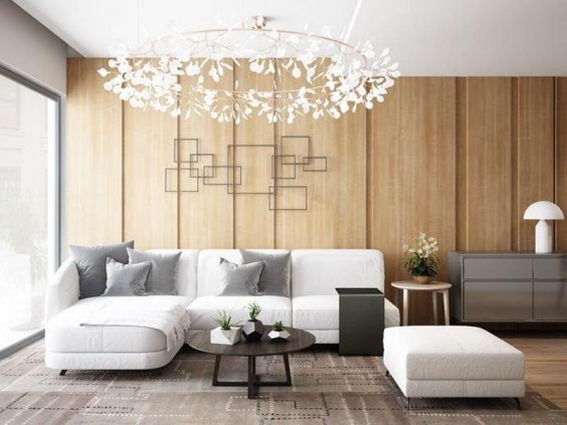 Thiết kế phòng khách chung với phòng ăn giúp không gian thoáng đãng