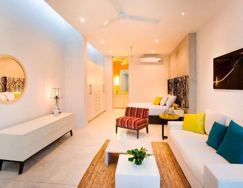 Lựa chọn màu sắc phòng khách nhà ống tươi sáng