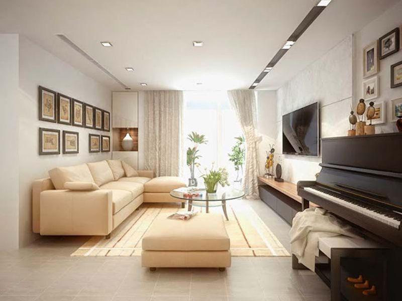 Phòng khách được trang trí theo phong cách tối giản