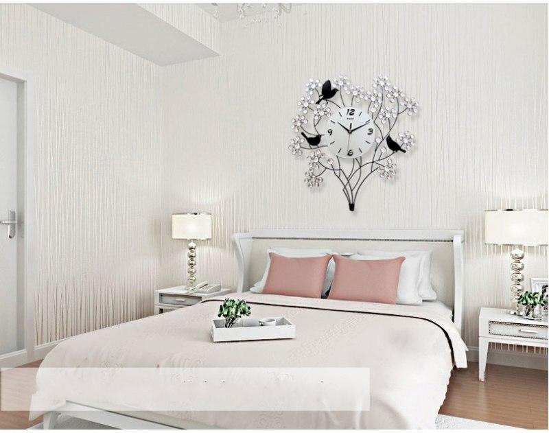 Sử dụng đồng hồ treo tường phòng ngủ