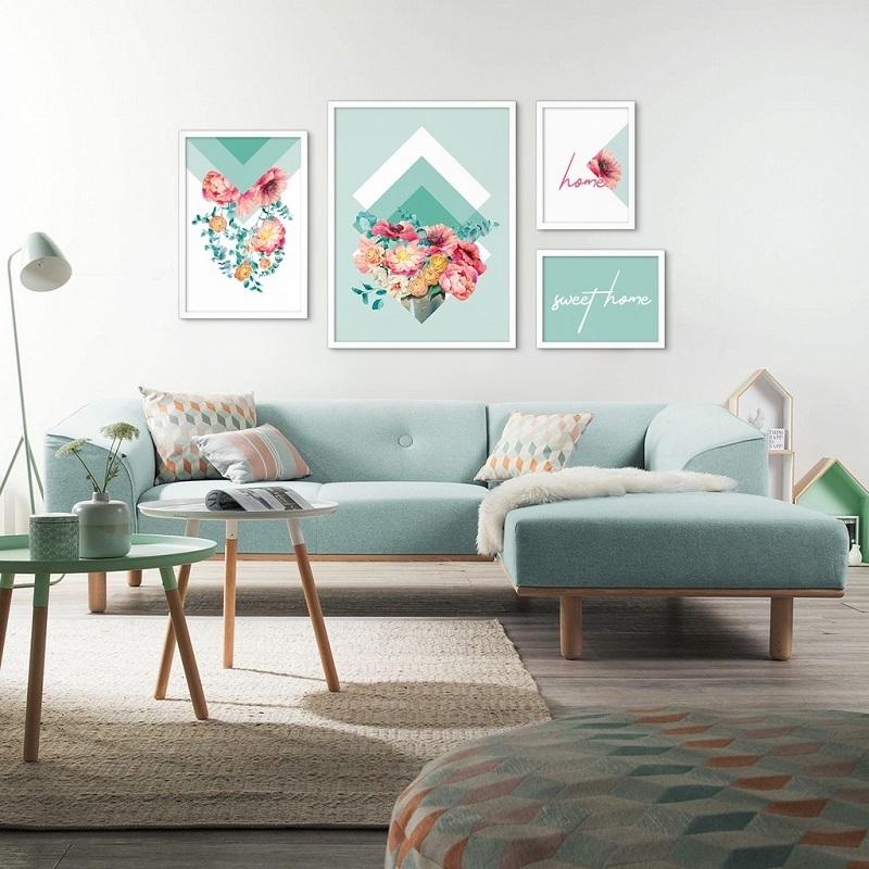 Trang trí phòng khách đẹp với tranh canvas