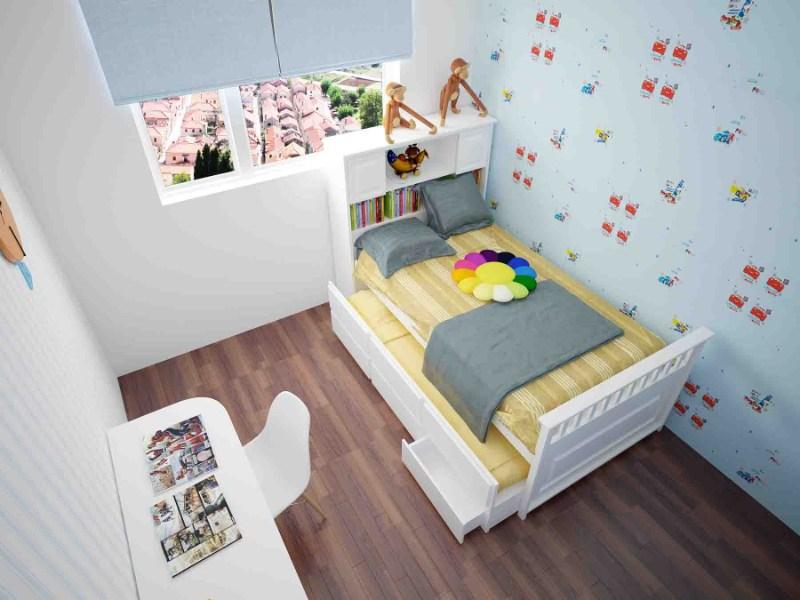Trang trí phòng ngủ đơn giản bằng giấy dán tường