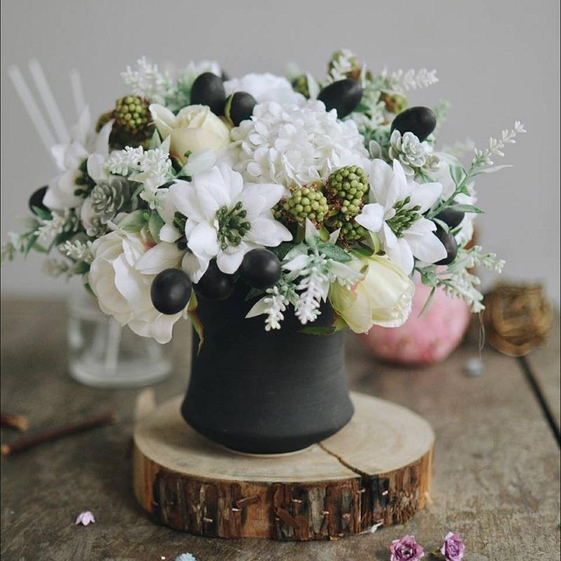Trang trí xinh xẻo với hoa lụa tại Decorhanoi.com