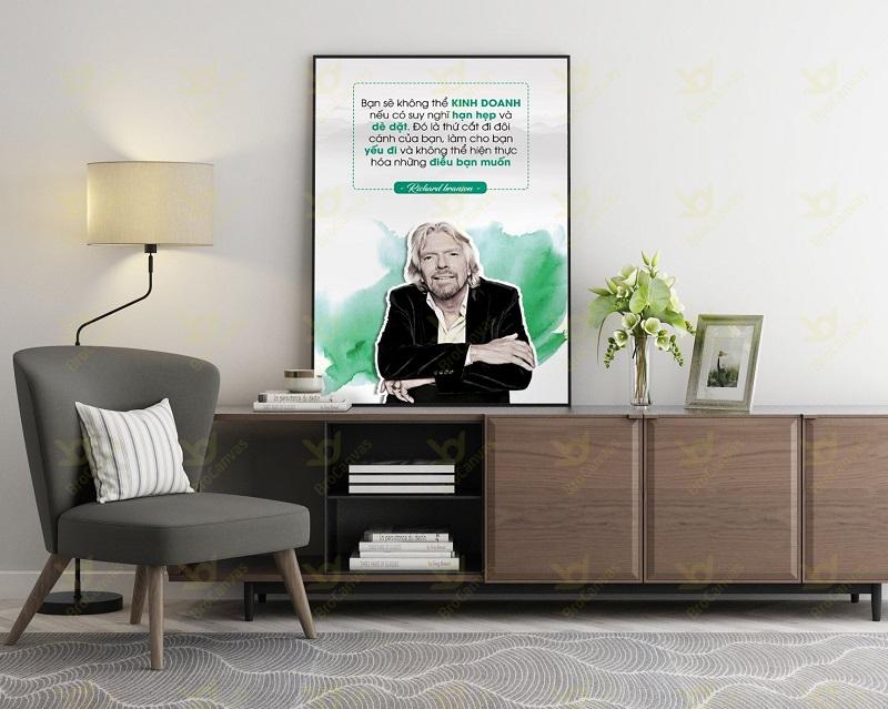 Tranh canvas slogan truyền cảm hứng trong văn phòng làm việc