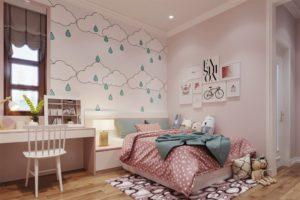 Trang trí phòng ngủ nhỏ bằng giường ngủ có kích thước vừa phải