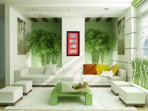 Ý tưởng thiết kế phòng khách 20m2 theo phong cách sinh thái học
