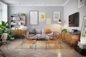 Decor phòng khách vintage cần phải có kế hoạch tỉ mỉ