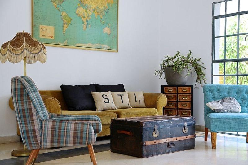 Lựa chọn ghế sofa để decor phòng khách vintage