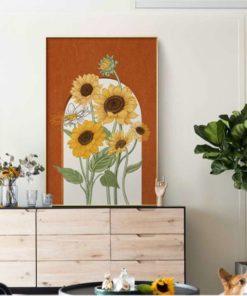 tranh canvans hoa huong duong